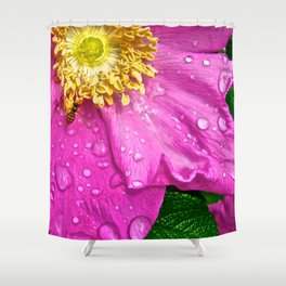 Morning Dew Busy Bee - The Peace Collection Shower Curtain