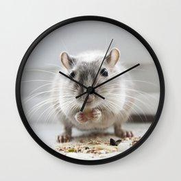 Gerbil eating Wall Clock