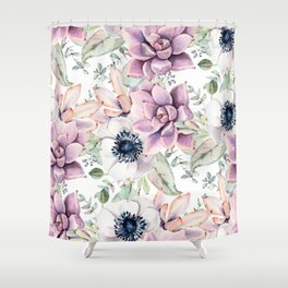 Oh my Succulents Shower Curtain