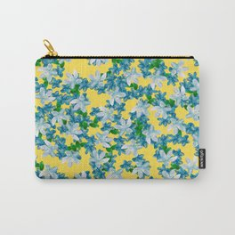 Summer Flowers Yellow Carry-All Pouch