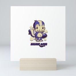 Jacksonville Skunk Apes Mini Art Print