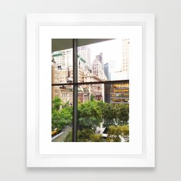 143. Room with view, New York Framed Art Print