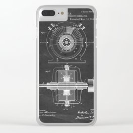 Alternating Electric Current Generator - Patent #447,921 - N. Tesla - 1891 Clear iPhone Case
