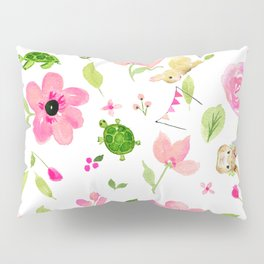 Bunny Beats Turtle Pillow Sham