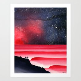 Blood Aurora Art Print