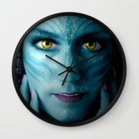 avatar Wall Clocks featuring Avatar by Karel Stepanek