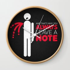 And that's why you always leave a note.  Wall Clock