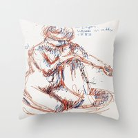 degas Throw Pillows featuring Some Degas by PerClaudia