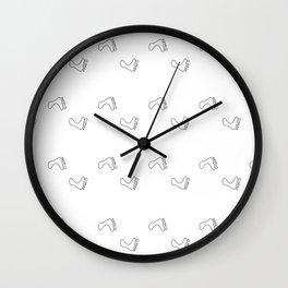 Walk On - Little Feet Pattern - White on White Wall Clock