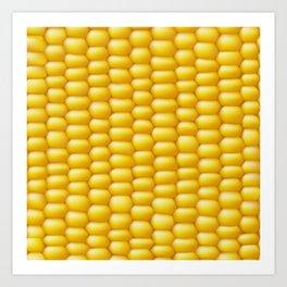 Corn Cob Background Art Print