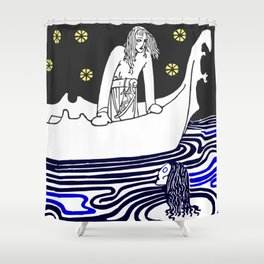 Warrior of the north Shower Curtain