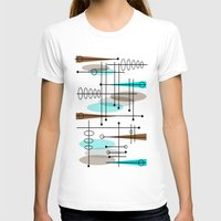 mid century modern T-shirts featuring Mid-Century Modern Atomic Inspired by Kippygirl