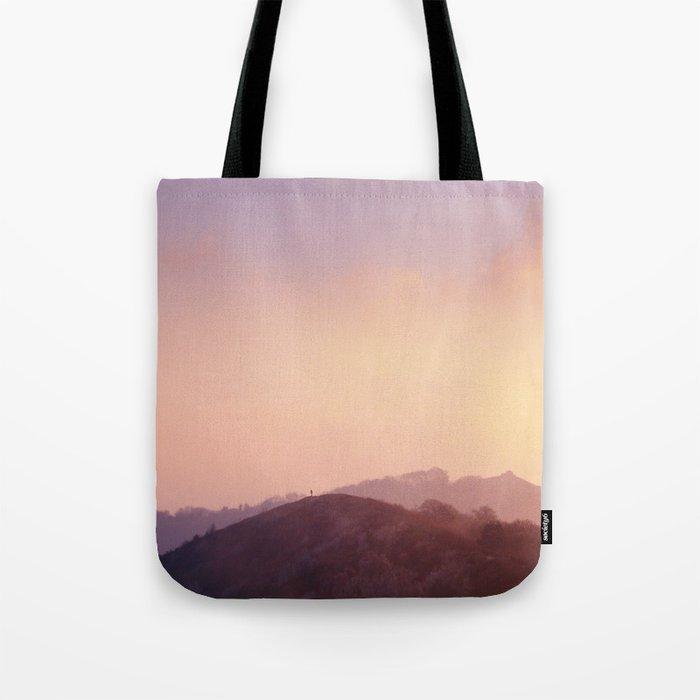 Alone at Sunset Tote Bag