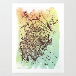 Exploded Skull Art Print