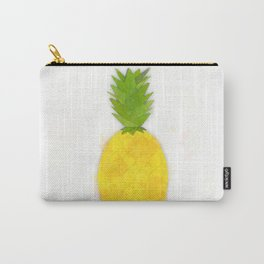 Tropical Pineapple Digital Watercolor Carry-All Pouch
