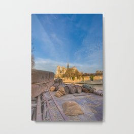 Docks of Notre Dame in Paris Metal Print