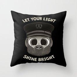 Let Your Light Shine Bright - Motivational Horror Throw Pillow