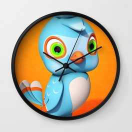 Toby Blue Bird Wall Clock