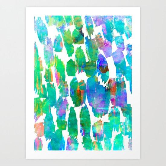 Neon Animal Art Print