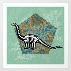 Brachiosaurus Fossil Art Print