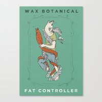 fat Canvas Prints featuring Fat Controller by Wax Botanical