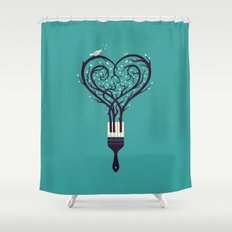 Paint Your Love Song Shower Curtain
