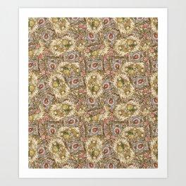 Rococo Frames Toss Art Print