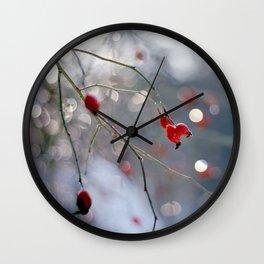 ROSEHIP AND BOKEH Wall Clock