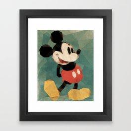 Mr. Mickey Mouse Framed Art Print
