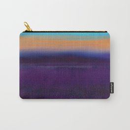 Lake View On A Foggy Morning in Violet, Blue and Orange 2 Carry-All Pouch