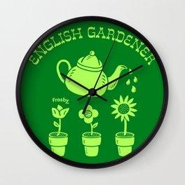 English Gardener Wall Clock