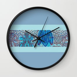 House Fly under Lace Curtains  Wall Clock