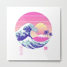 The Great Vaporwave Metal Print