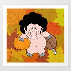 It's fall, give thanks! Art Print