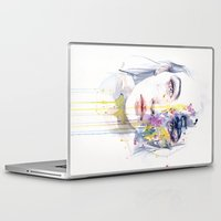 bow Laptop & iPad Skins featuring miss bow tie by agnes-cecile