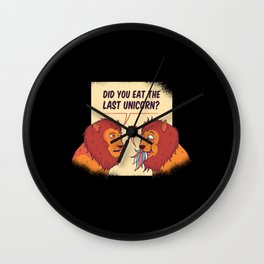 Lion Last Unicorn Eaten Saying Wall Clock
