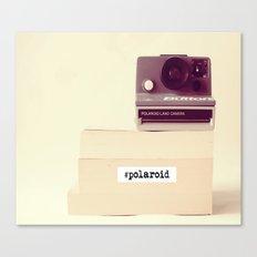Polaroid Typography Canvas Print