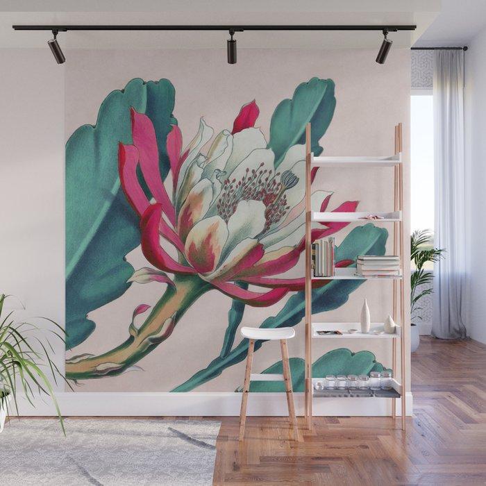Flowering cactus IV Wall Mural