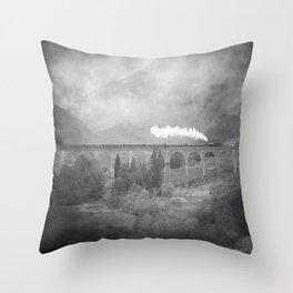 """""""Glenfinnan b&w"""" Throw Pillow"""