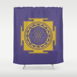 Sri Yantra Mandala Shower Curtain