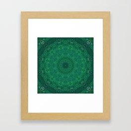 Green Austrian Lake Framed Art Print