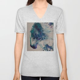 Wild Stallion- Abstract Acrylic Art By Fluid Nature Unisex V-Neck