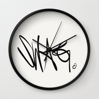 swag Wall Clocks featuring Swag. by transFIGure