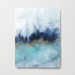 Mystic abstract watercolor Metal Print