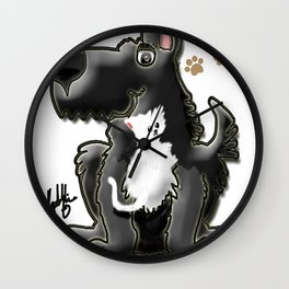 The Dog and the Cat Wall Clock