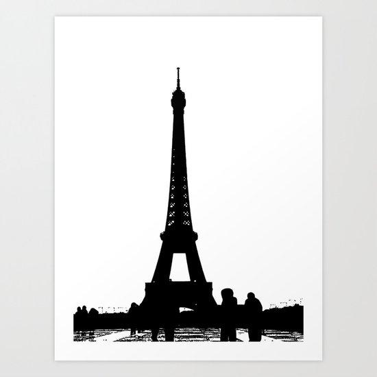 Eiffel Silhouette Art Print