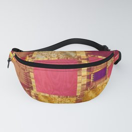 """Exotic fabric, ethnic and bohemian style, patches"" Fanny Pack"