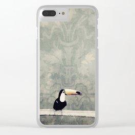 bohemian toucan Clear iPhone Case