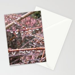 Hanging rain drops Stationery Cards