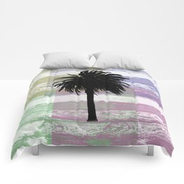Palm and colors Comforters